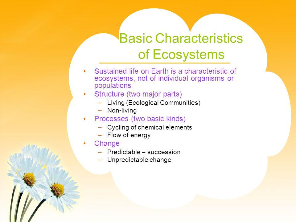 Basic Characteristics of Ecosystems