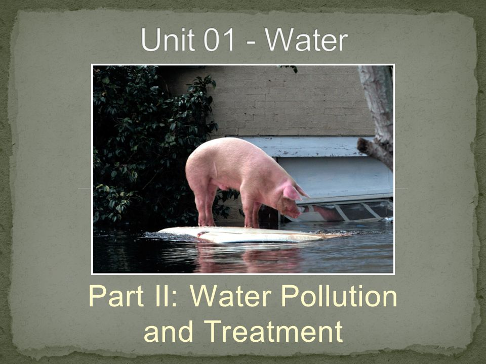 Part II: Water Pollution and Treatment