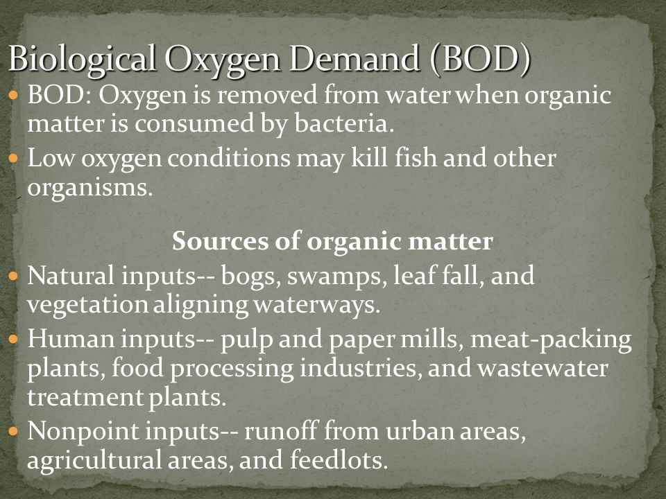 Biological Oxygen Demand (BOD)