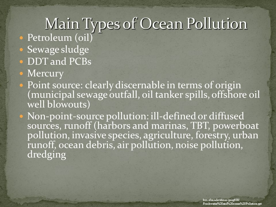 Main Types of Ocean Pollution
