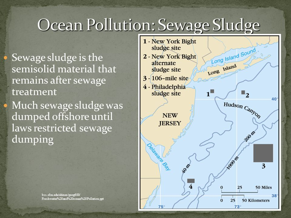 Ocean Pollution: Sewage Sludge