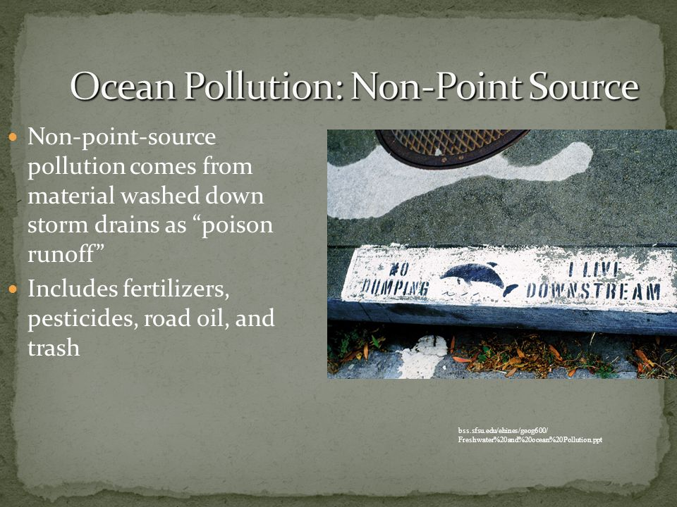 Ocean Pollution: Non-Point Source