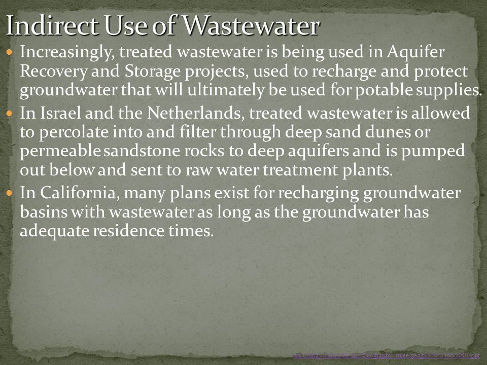 Indirect Use of Wastewater