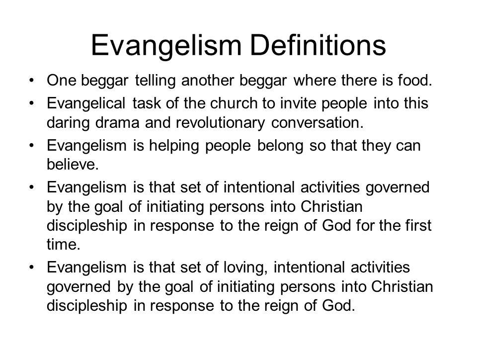 Evangelism Definitions
