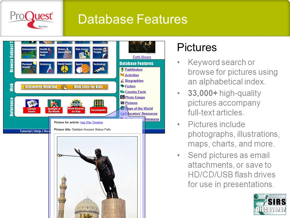 Database Features Pictures