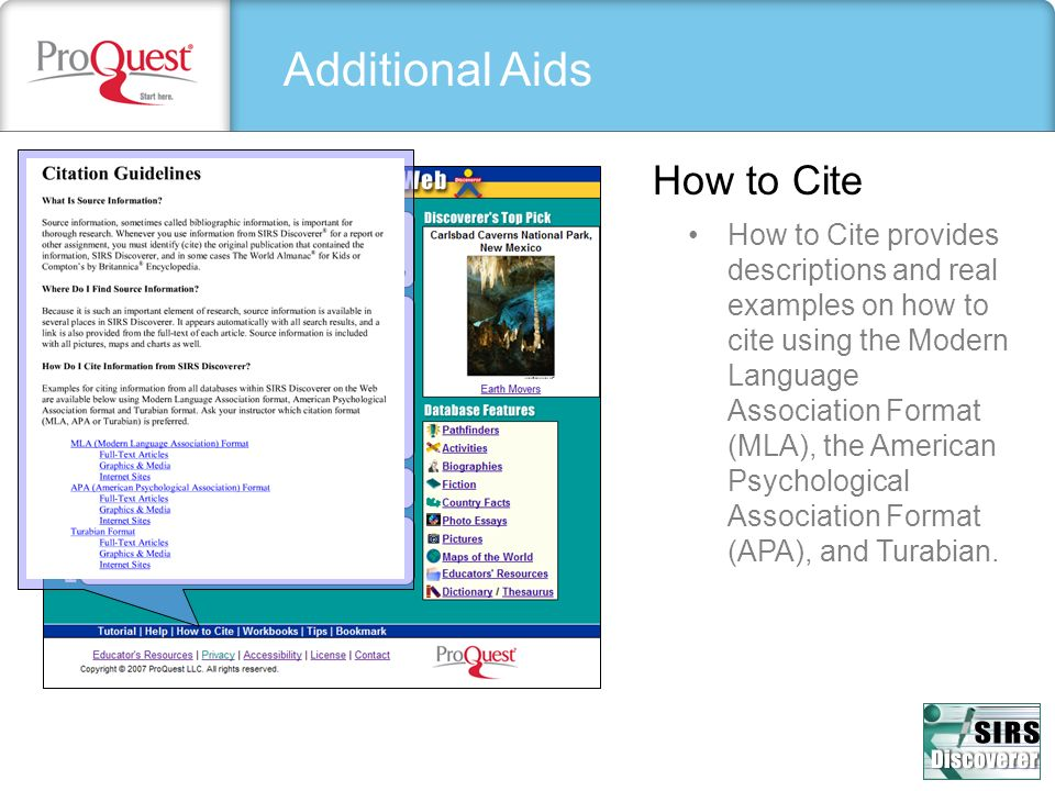 Additional Aids How to Cite