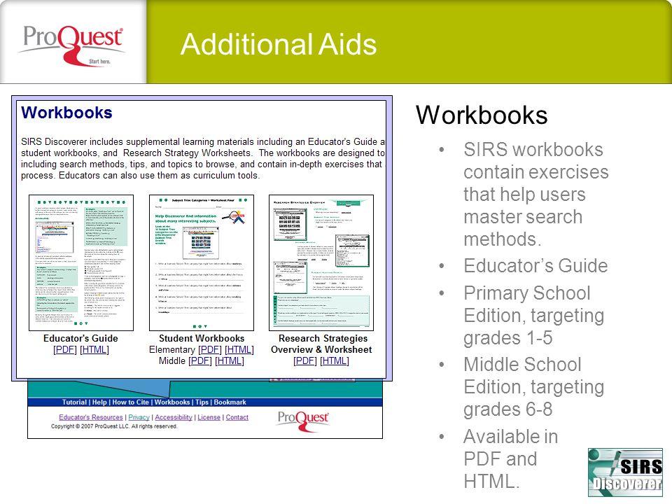 Additional Aids Workbooks