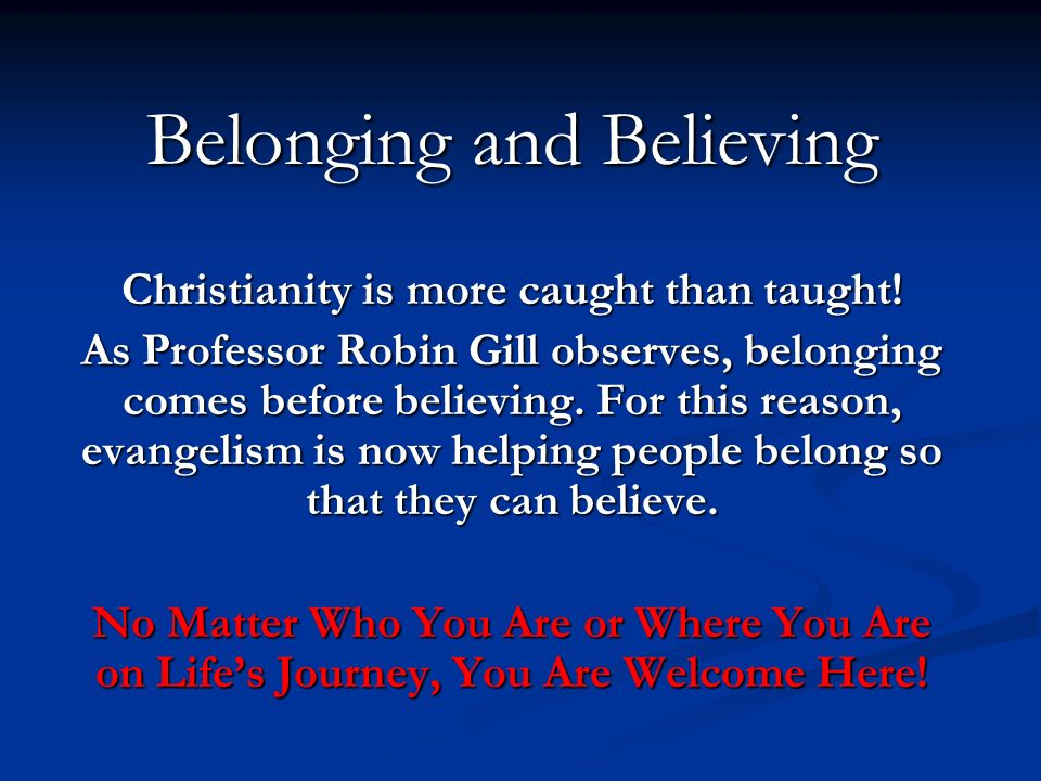 Belonging and Believing