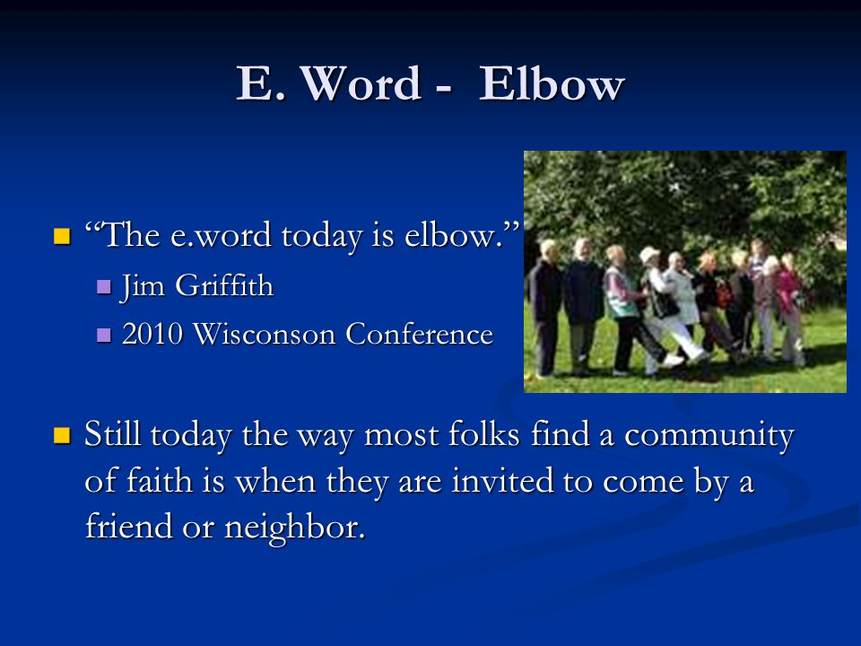 E. Word - Elbow The e.word today is elbow.