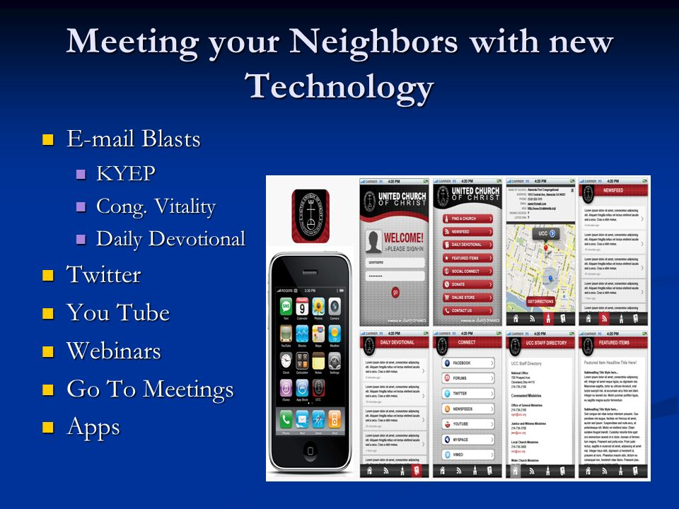 Meeting your Neighbors with new Technology