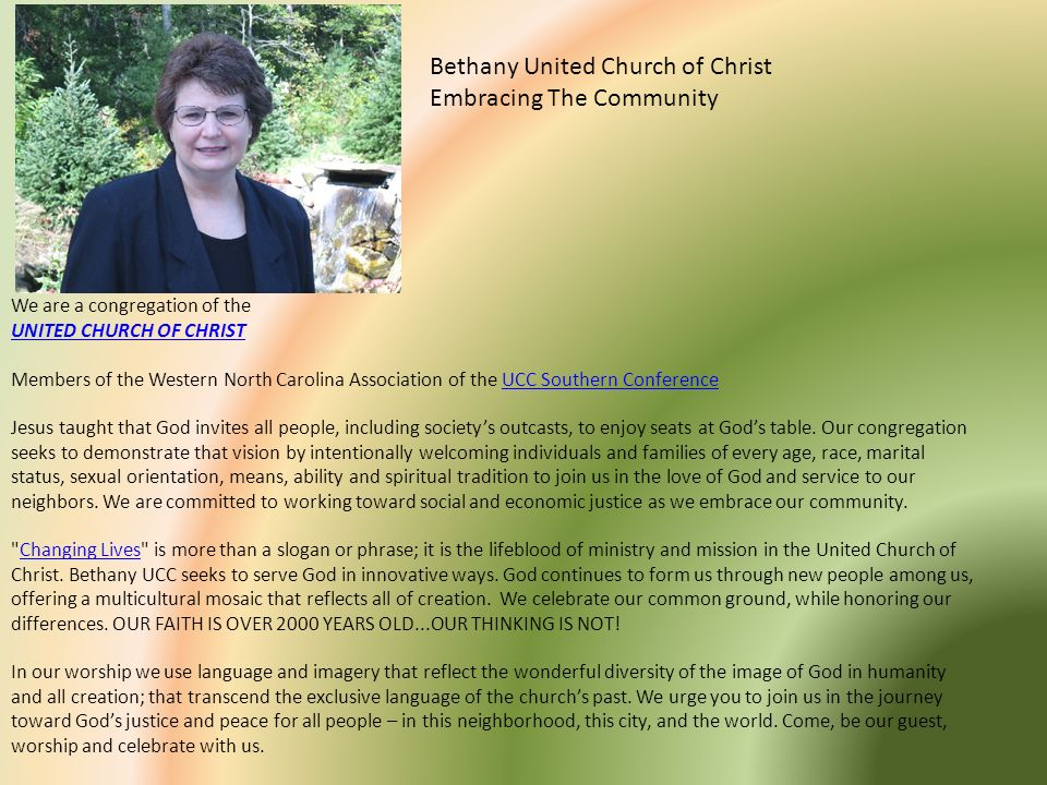 Bethany United Church of Christ Embracing The Community