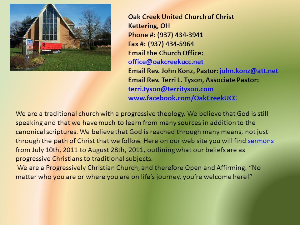 Oak Creek United Church of Christ