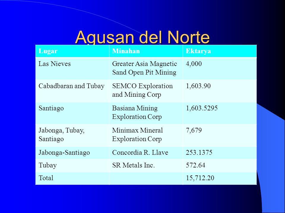 Agusan del Norte Lugar Minahan Ektarya Las Nieves
