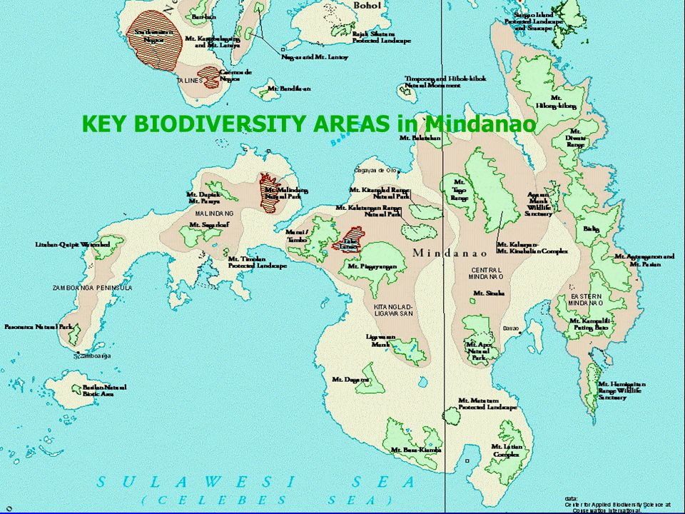 KEY BIODIVERSITY AREAS in Mindanao