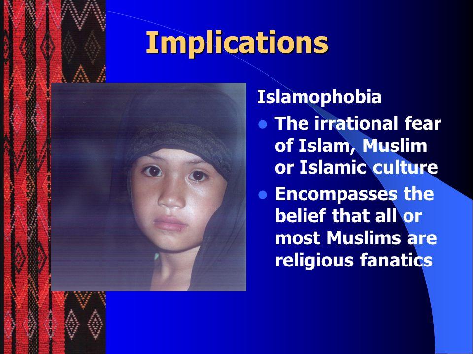 Implications Islamophobia