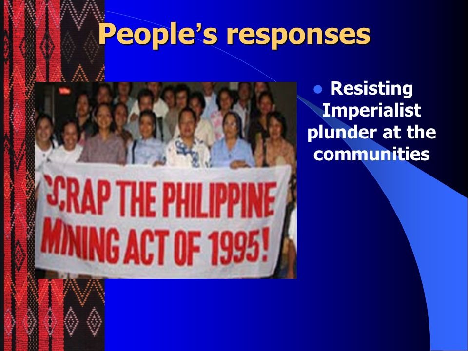 Resisting Imperialist plunder at the communities
