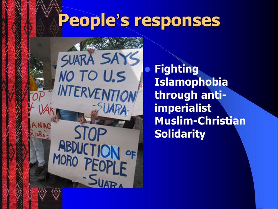 People's responses Fighting Islamophobia through anti-imperialist Muslim-Christian Solidarity