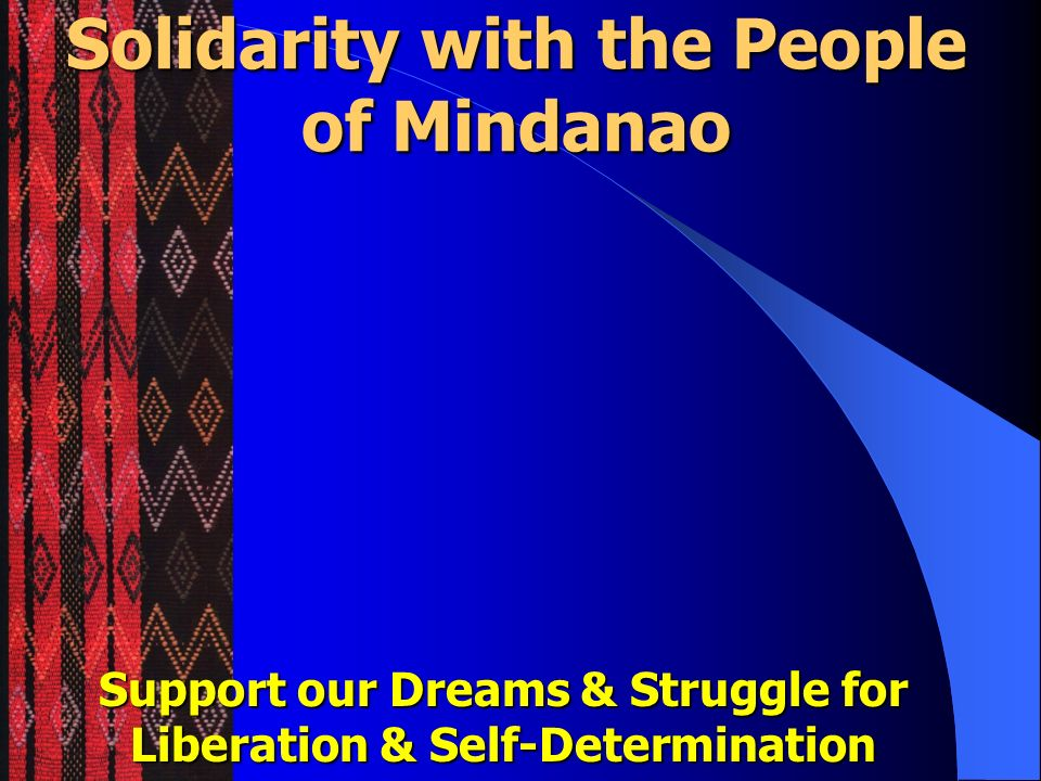 Solidarity with the People of Mindanao