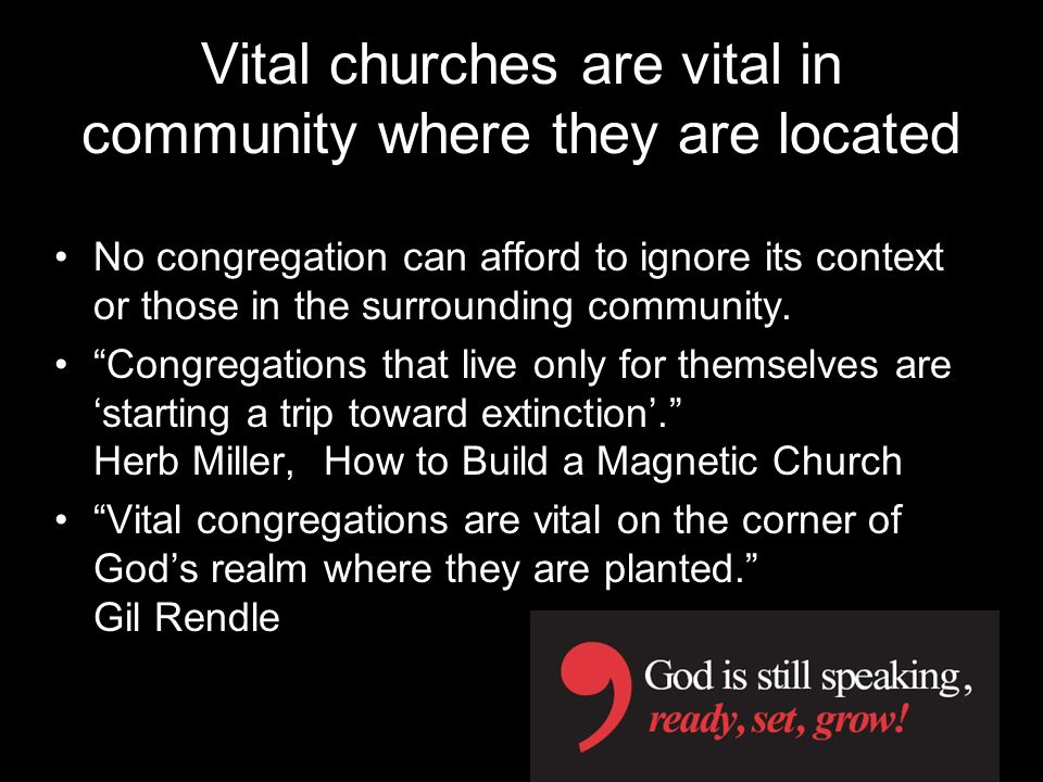 Vital churches are vital in community where they are located