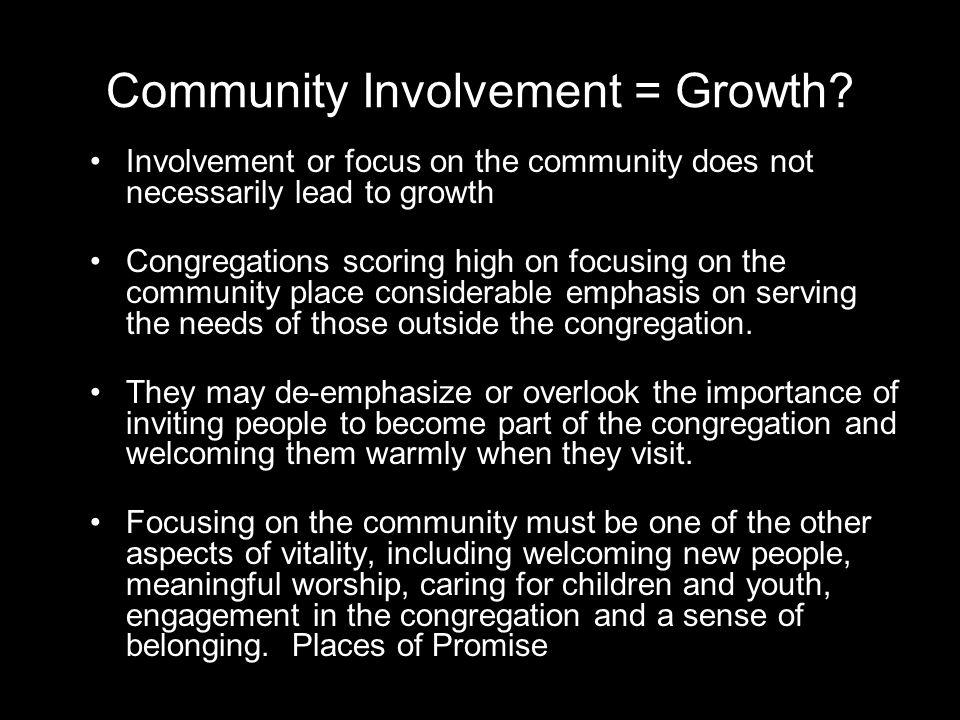 Community Involvement = Growth