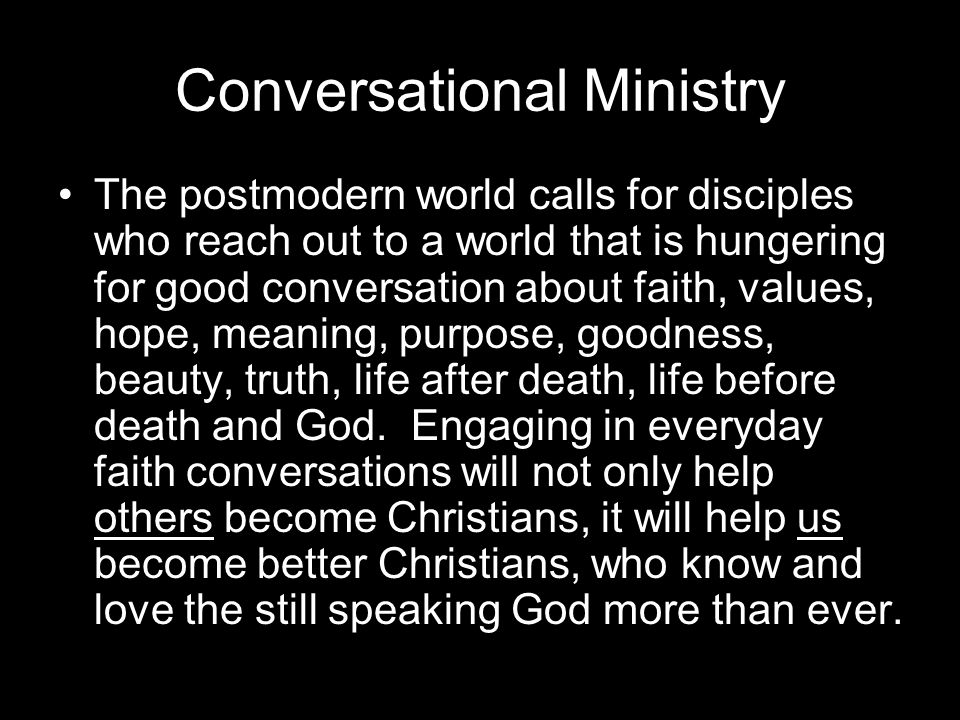 Conversational Ministry