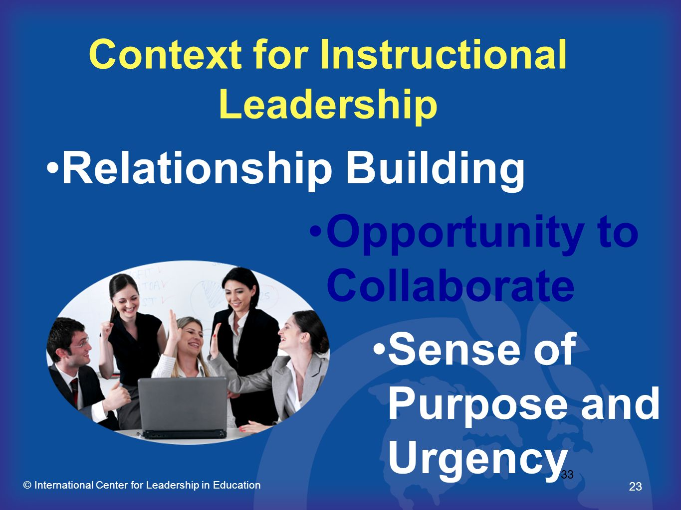 Context for Instructional Leadership