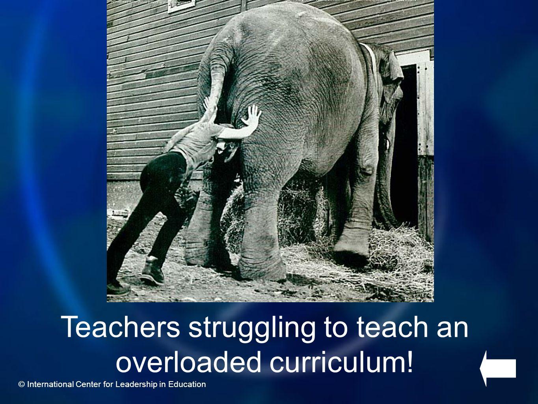 Teachers struggling to teach an overloaded curriculum!