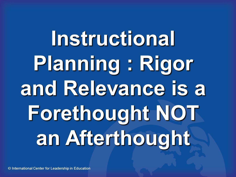 © International Center for Leadership in Education