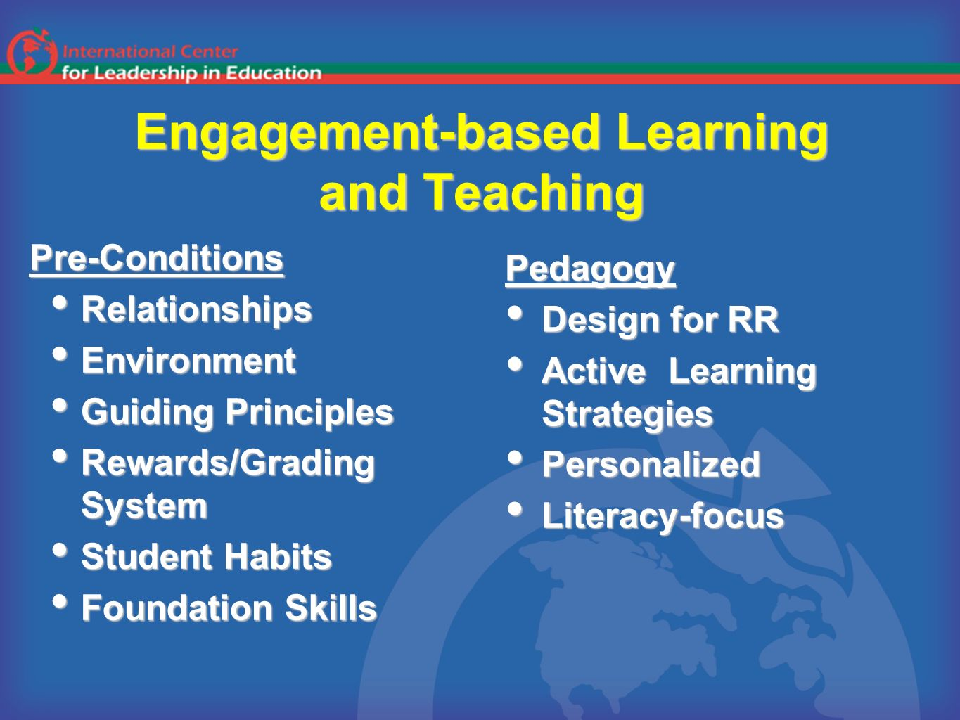 Engagement-based Learning and Teaching