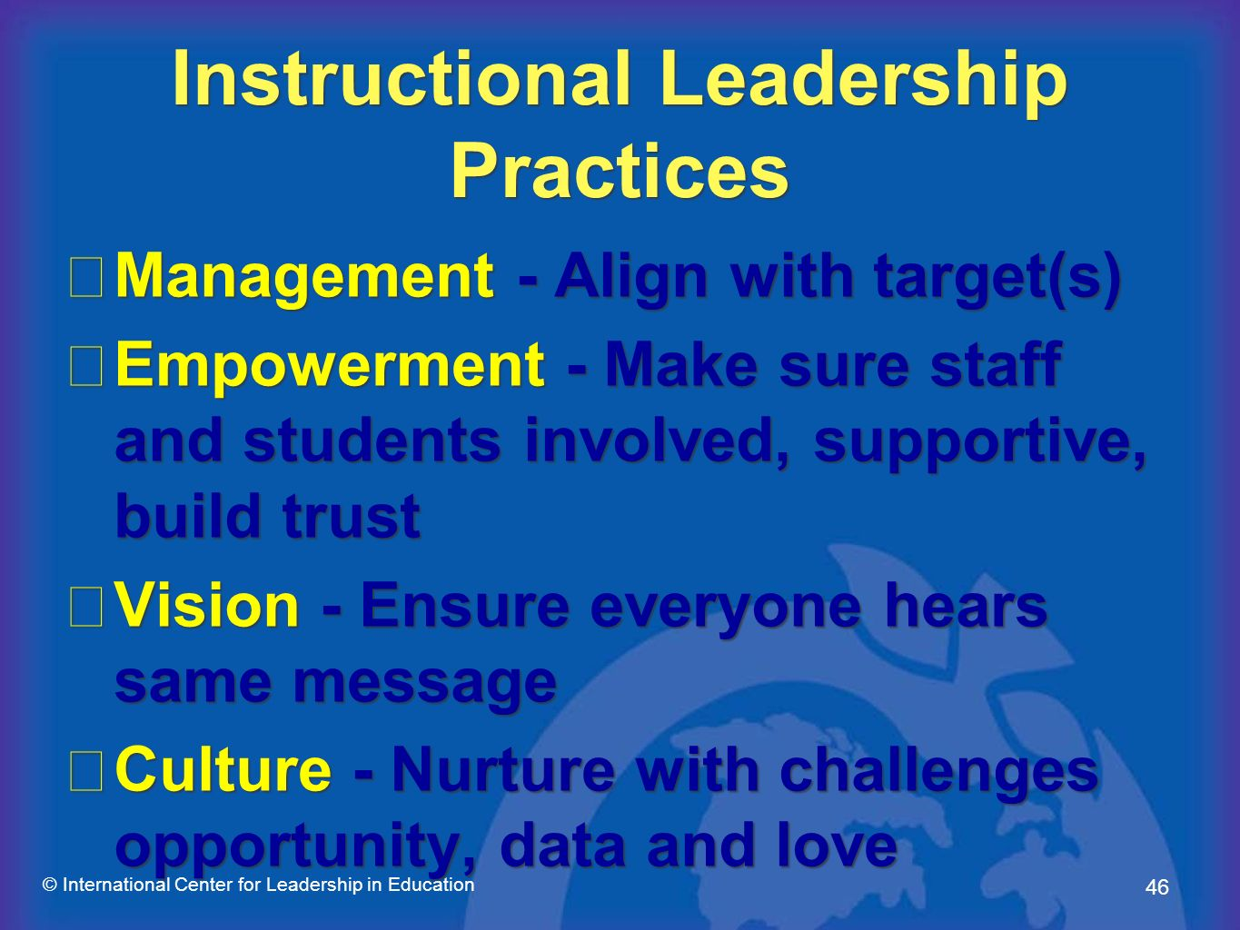 Instructional Leadership Practices