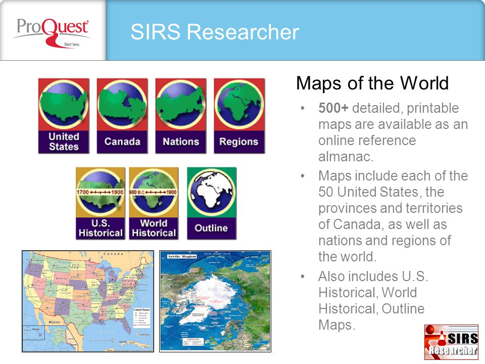 SIRS Researcher Maps of the World