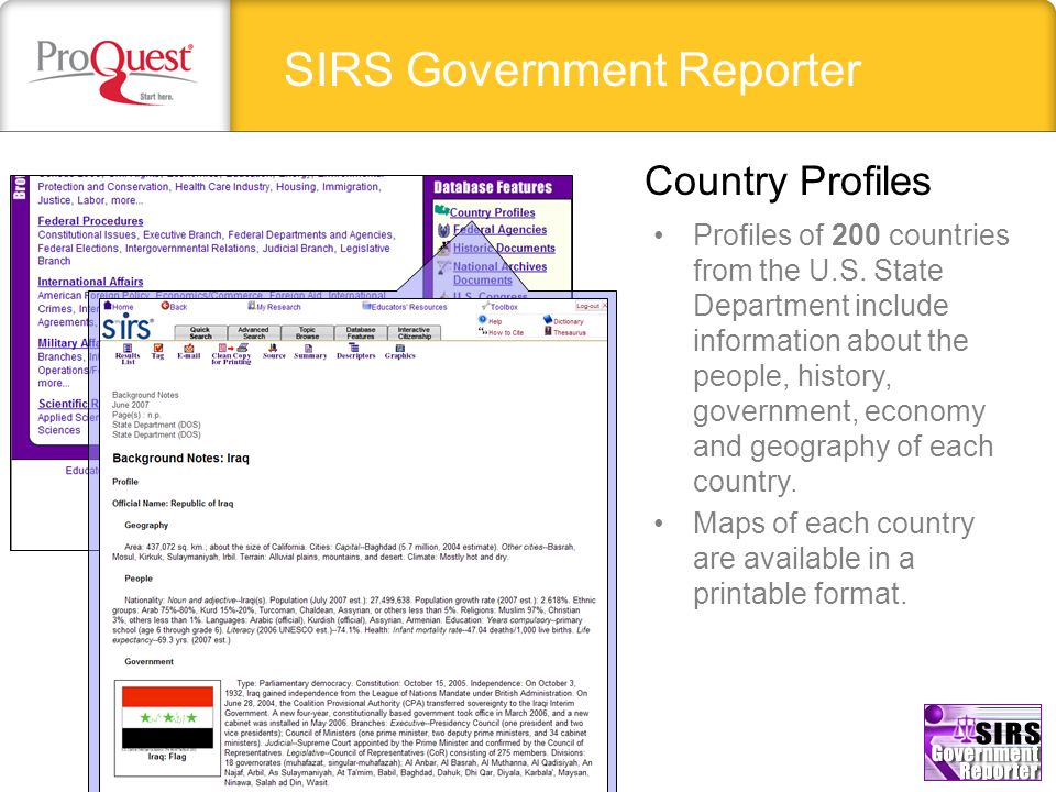 SIRS Government Reporter