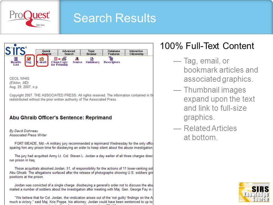 Search Results 100% Full-Text Content