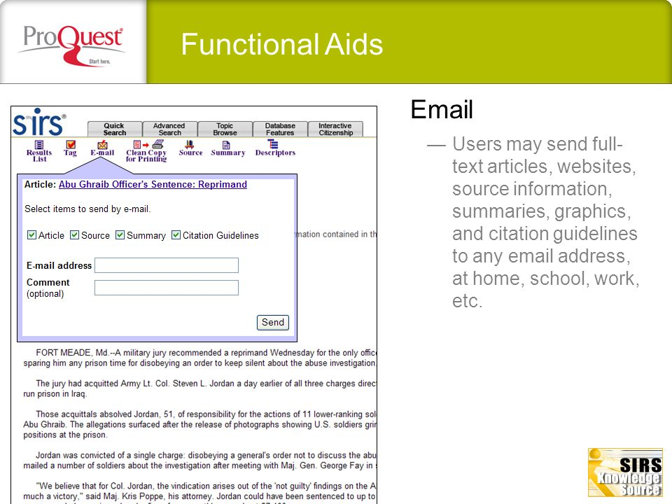 Functional Aids Email.