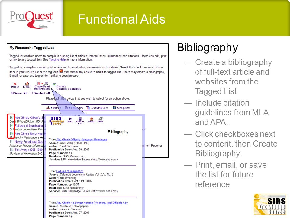 Functional Aids Bibliography