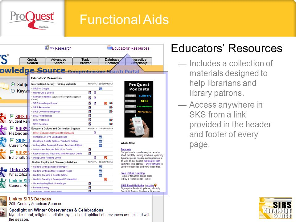 Functional Aids Educators' Resources