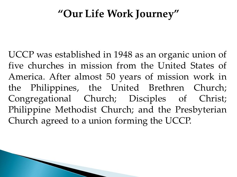Our Life Work Journey