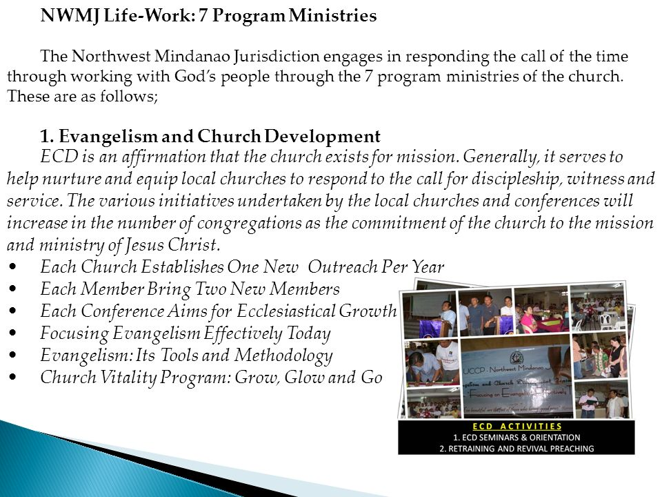 NWMJ Life-Work: 7 Program Ministries