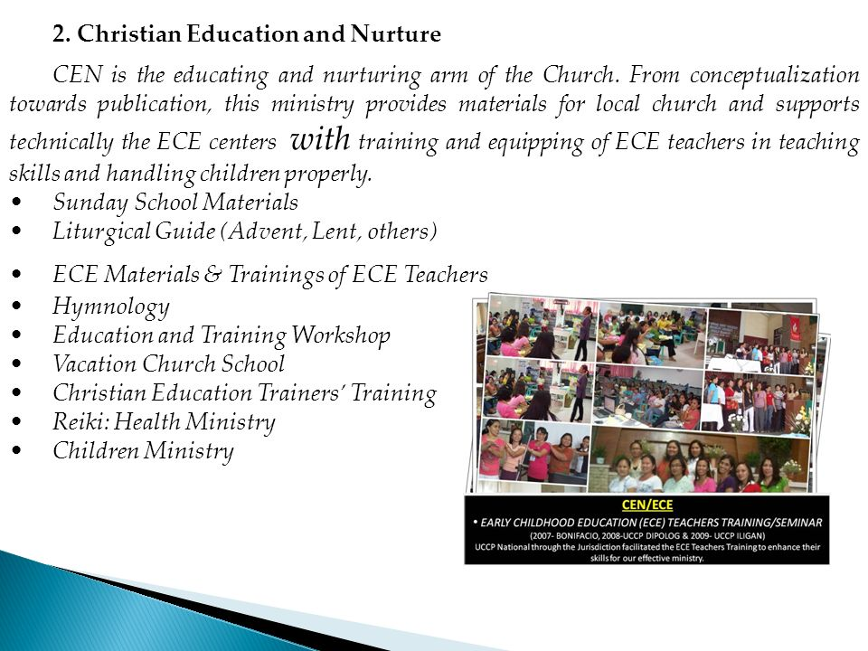 2. Christian Education and Nurture