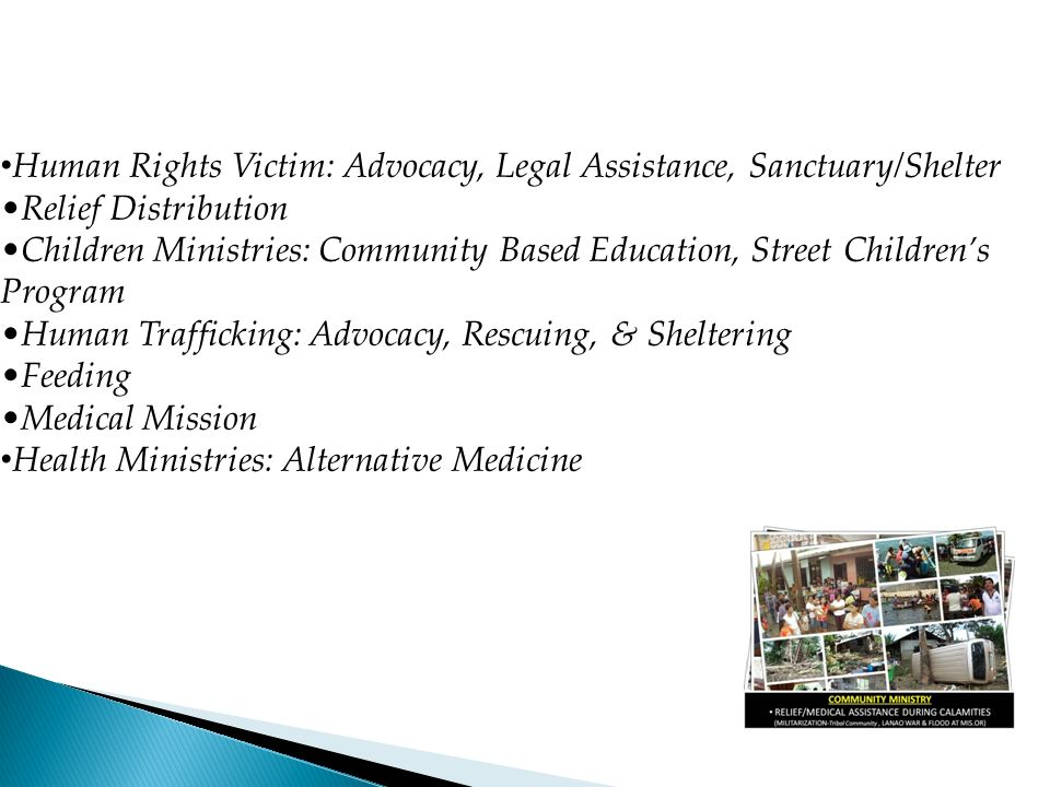 Human Rights Victim: Advocacy, Legal Assistance, Sanctuary/Shelter