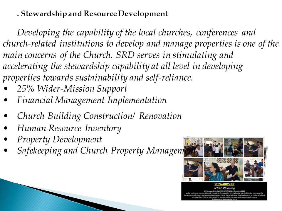 25% Wider-Mission Support Financial Management Implementation