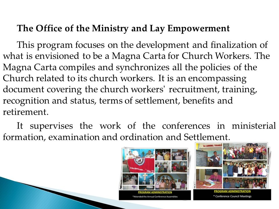 The Office of the Ministry and Lay Empowerment
