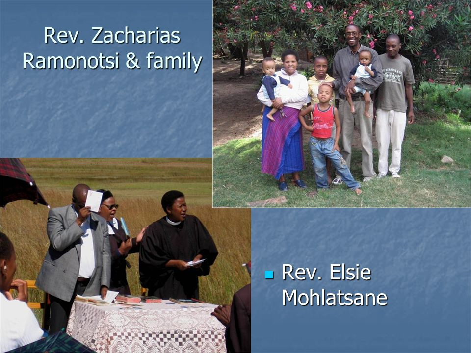 Rev. Zacharias Ramonotsi & family