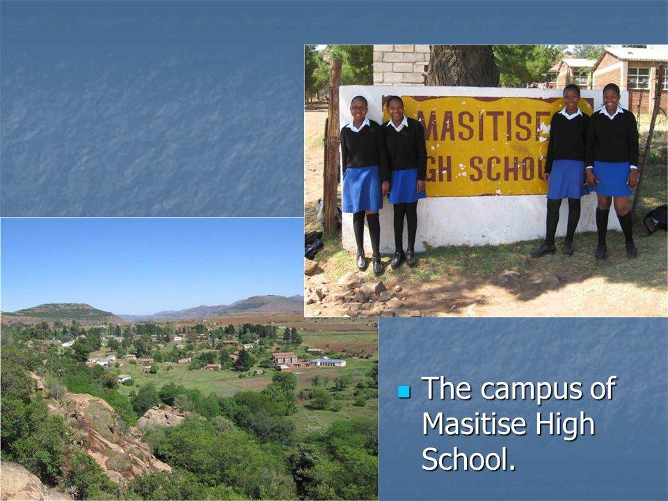 The campus of Masitise High School.