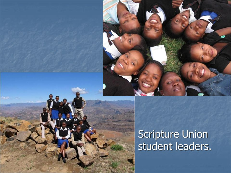 Scripture Union student leaders.
