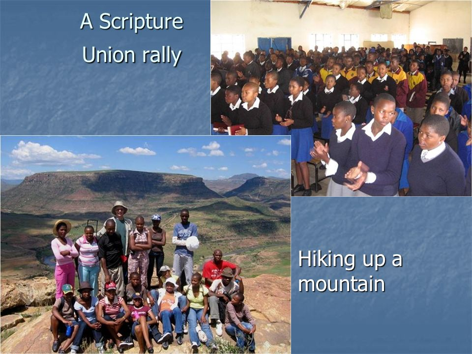A Scripture Union rally
