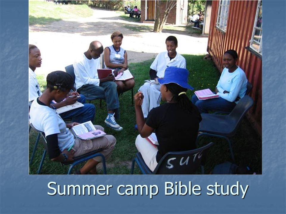 Summer camp Bible study