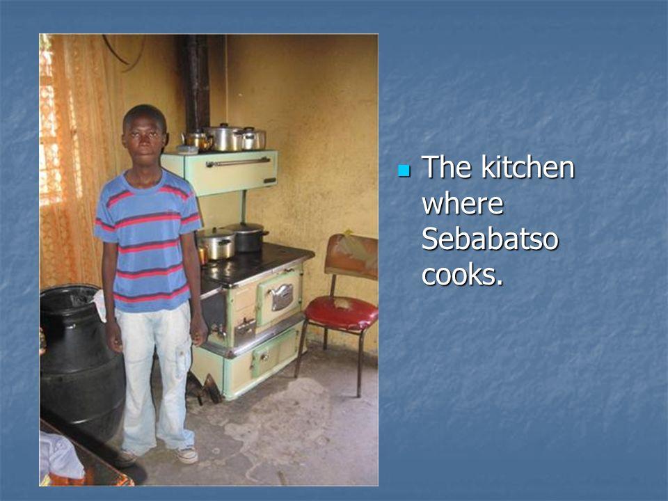 The kitchen where Sebabatso cooks.
