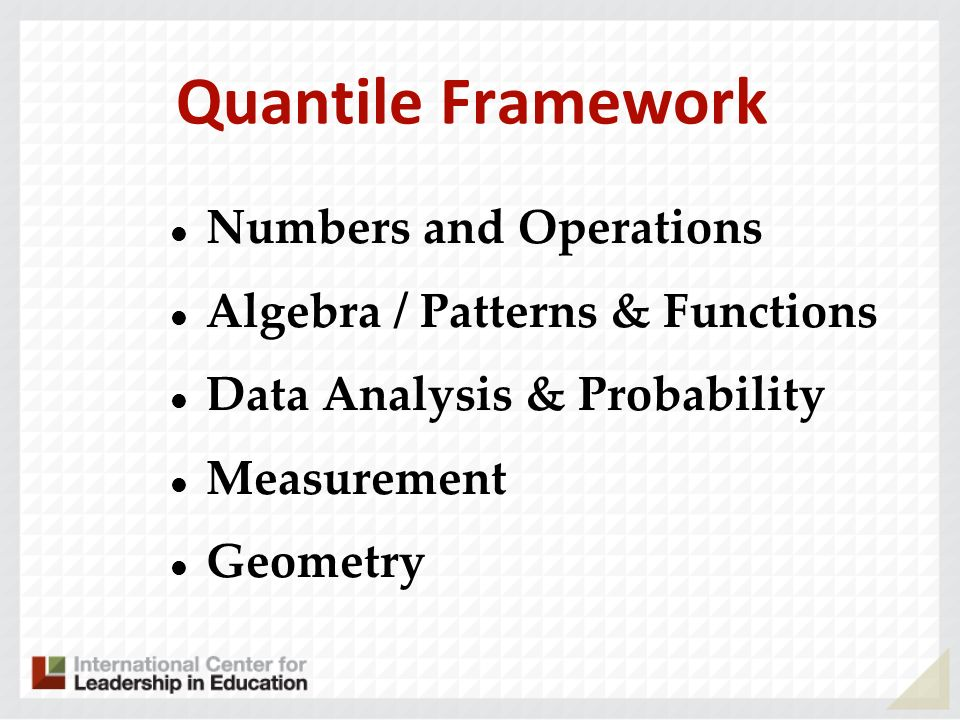 Quantile Framework Numbers and Operations