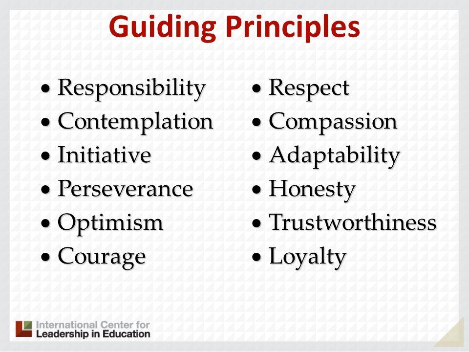 Guiding Principles Responsibility Contemplation Initiative